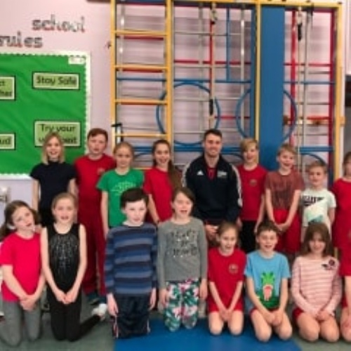 Visit by Olympian Gymnast